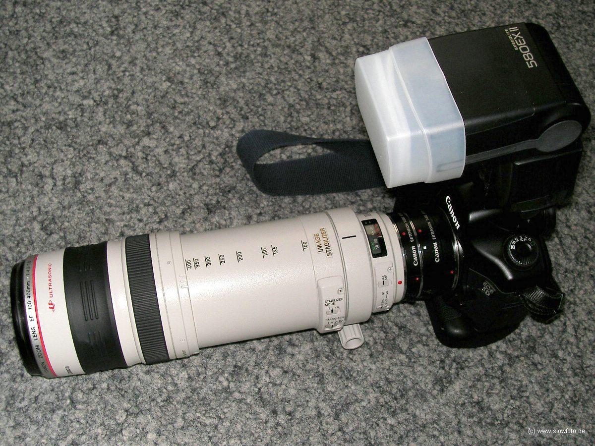 EOS 5D + BG + EF 100-400 + ET 580 EX