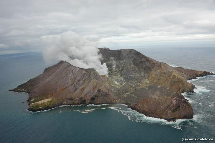White Island aktiver Vulkan