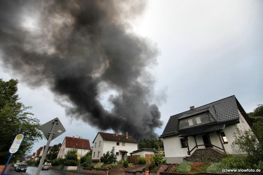 Auf dem Gelände von Bücking Dreinaht war eine Lagerhalle in Brand geraten
