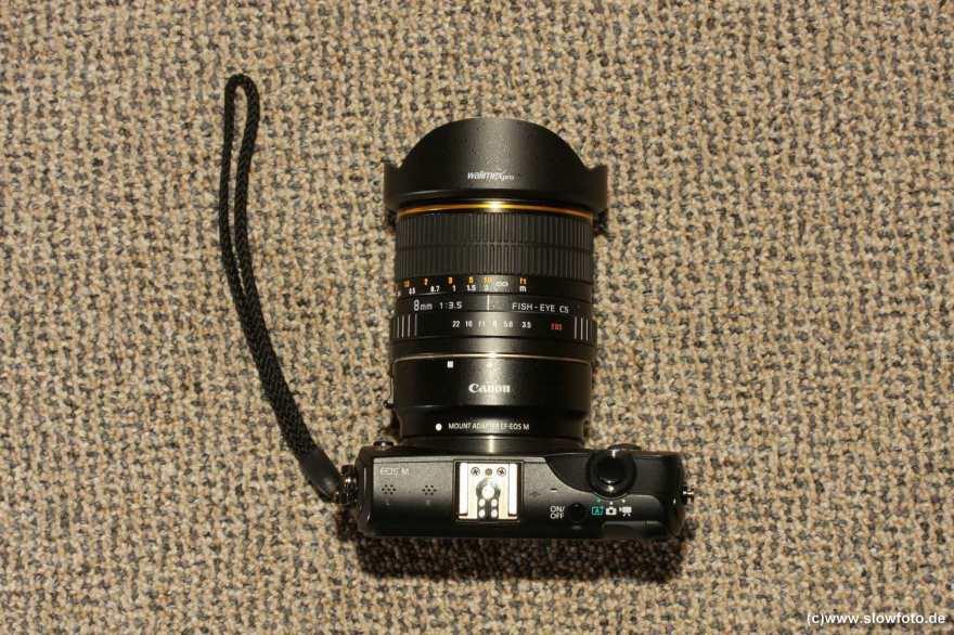 EOS M mit walimex 3.5 8mm Fischauge