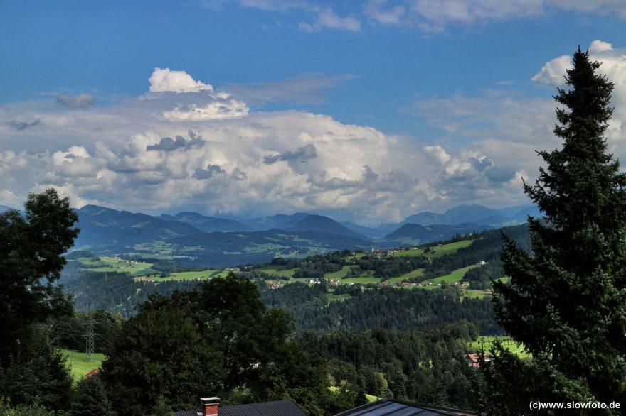 von Fluh aus in den Bregenzer Wald