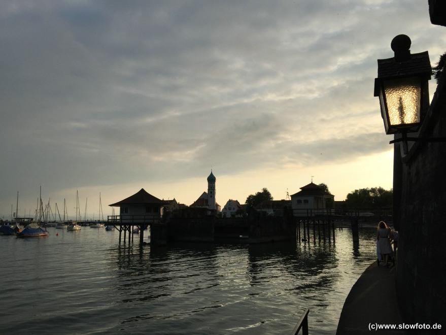 Abendstimmung am Bodensee.