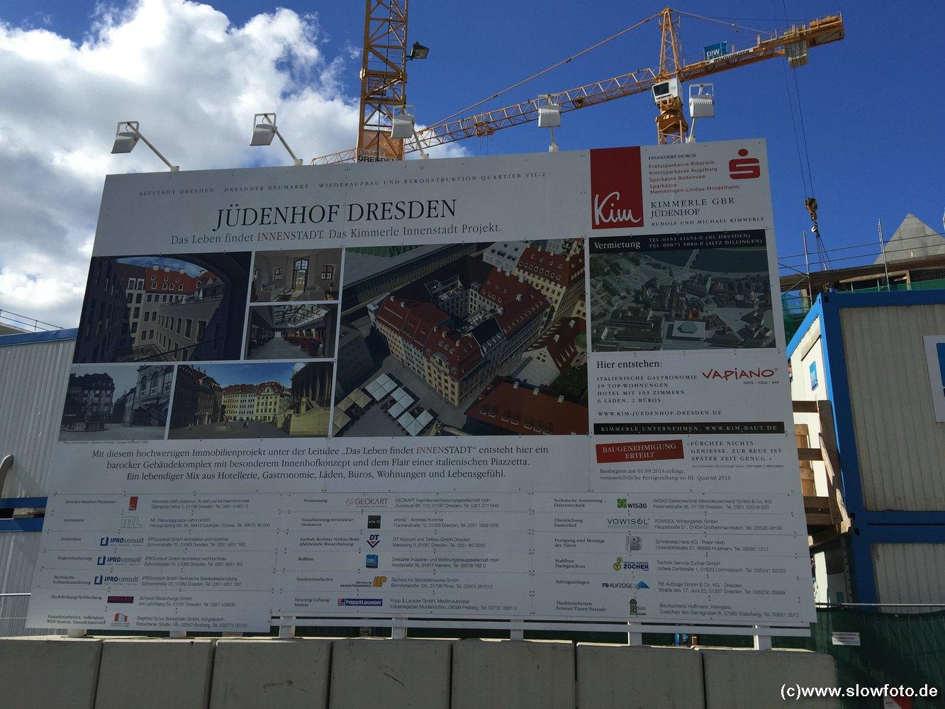 und endlich VAPIANO im neu entstehenden Jüdenhof :-(