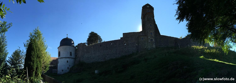 Burg Stolpen mit riesigem Jagdgelände südlich