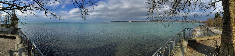 Blick von der Insel Lindau auf den See
