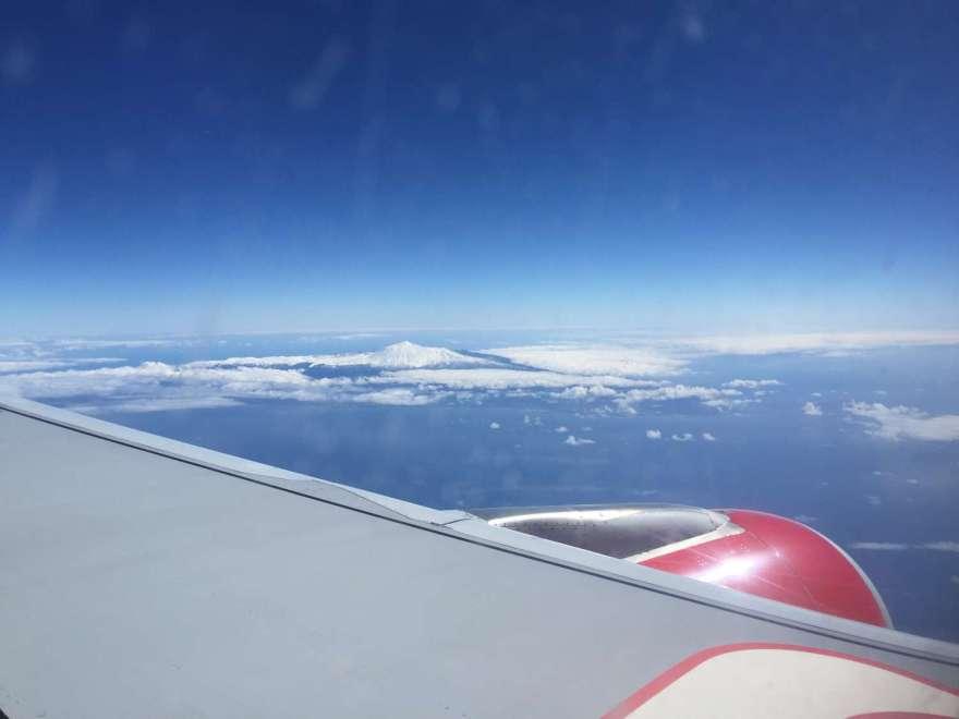 El Teide mit viel Schnee