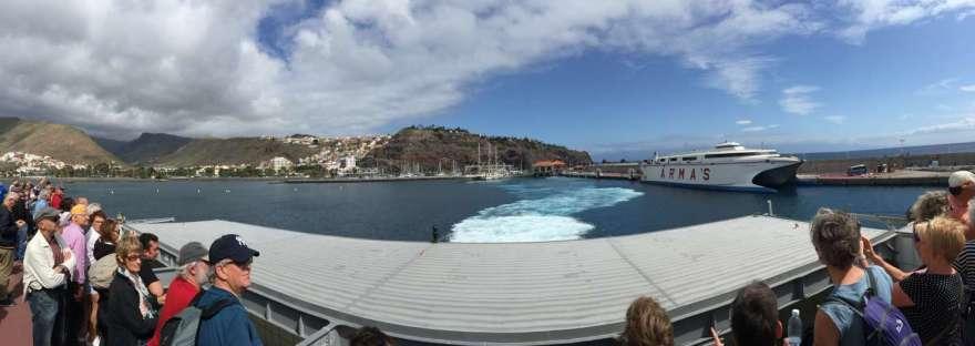 San Sebastian und der Hügel mit dem Parador
