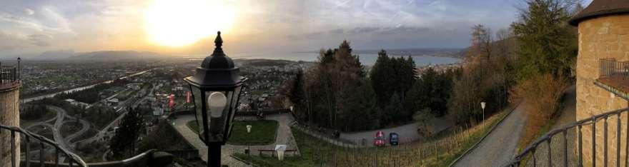 ck vom Gebhardsberg auf Bregenz und den Bodensee