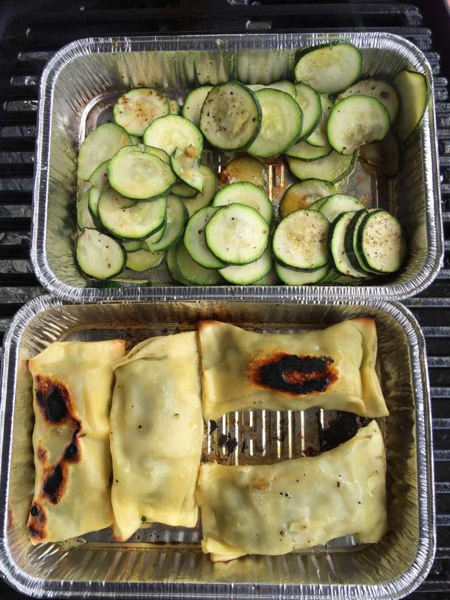 oder Zucchini und Maultaschen