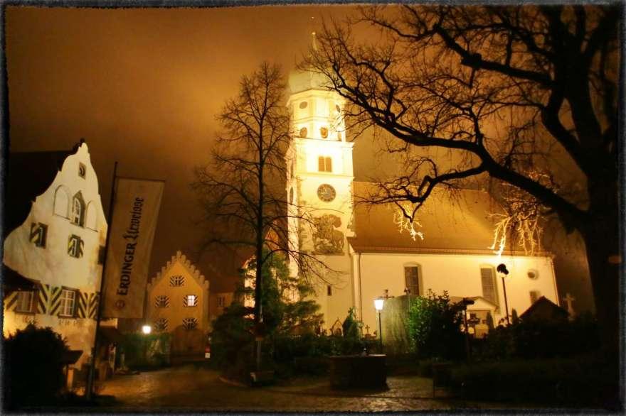 Wasserburg Halbinsel Walserhaus Sankt Georgs Kirche